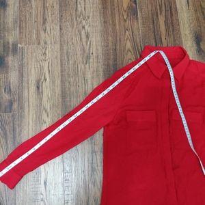 le chateau Tops - Le Chateau Red Semi Sheer Dress Shirt Blouse